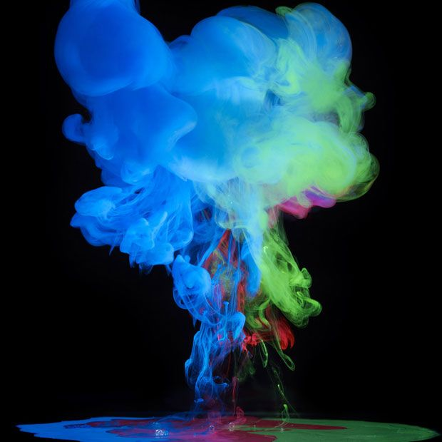 Making a splash Aqueous Electreau water art by photographer Mark Mawson is part of Water art, Color, Sea life art, Art, Colour images, Literature art - Photographer Mark Mawson drops different hues and densities of paint to water to create complex kaleidoscopes of colour he calls  alien