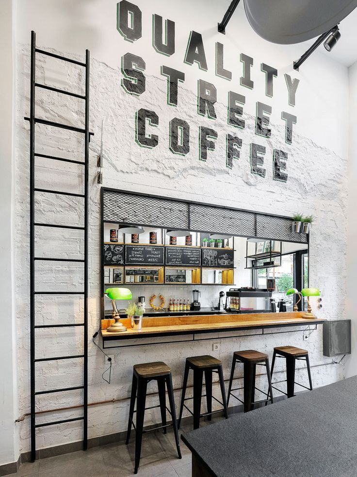 ... Completed The Design Of Daily Dose, A Small Takeaway Wall Coffee Bar In  The City Of Kalamata, Greece, That Features A White, Black And Wood Interior .