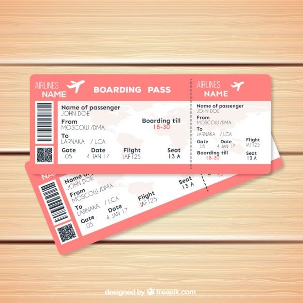 Download Pink Boarding Pass Template In Realistic Style For Free Boarding Pass Template Ticket Template Free Boarding Pass Invitation Template