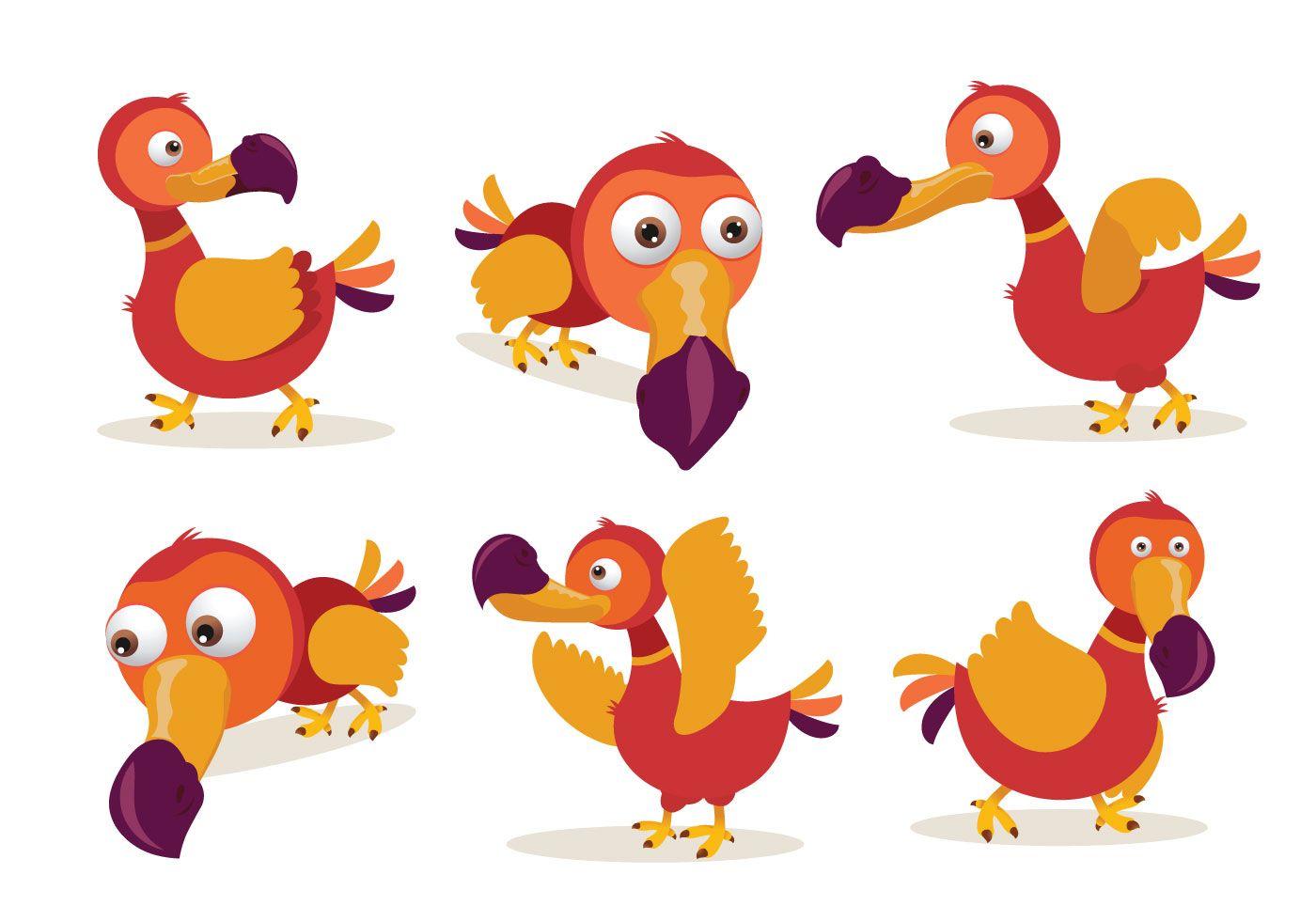 Download Dodo Cartoon Character Pose Vector Illustration