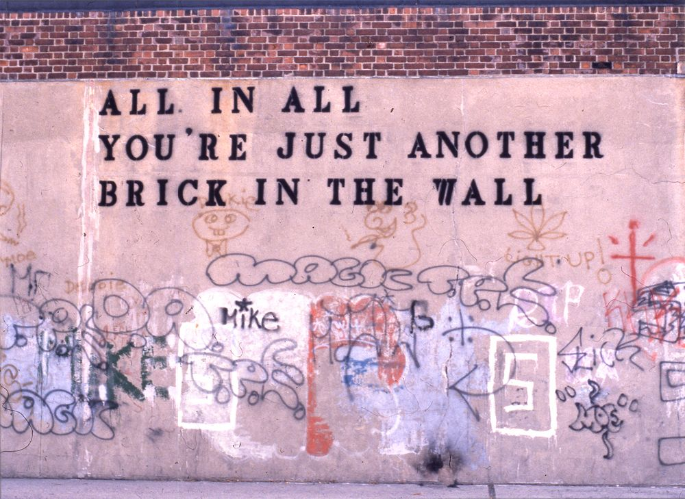 Brick In The Wall John Fekner With Images Words Visual Poetry