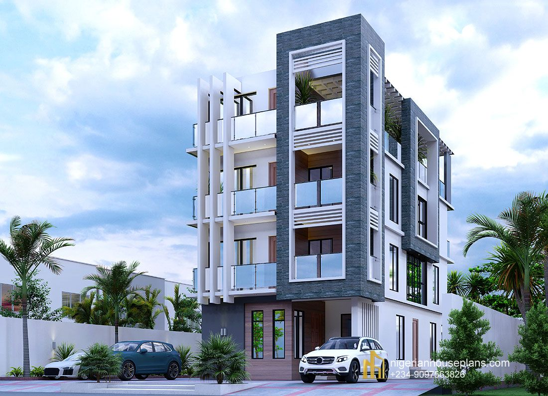 Nigerian House Plans Building Designs And Construction Apartment Building Building Design Building