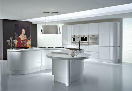 El diseño de cocinas elegantes con isla es una genial idea que - cocinas elegantes