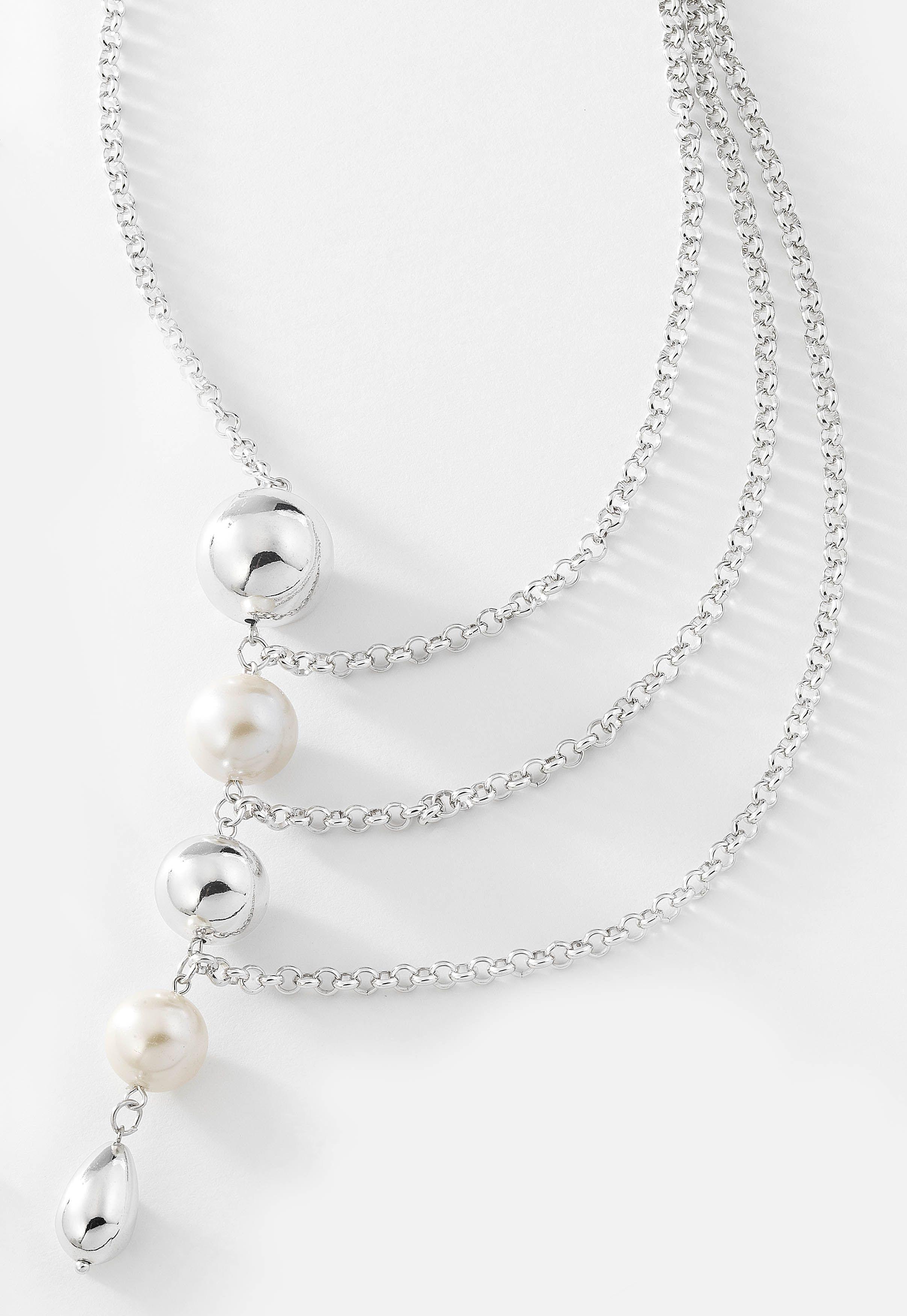 64b35f4593ce Collar largo de varios niveles con eslabones de cadena