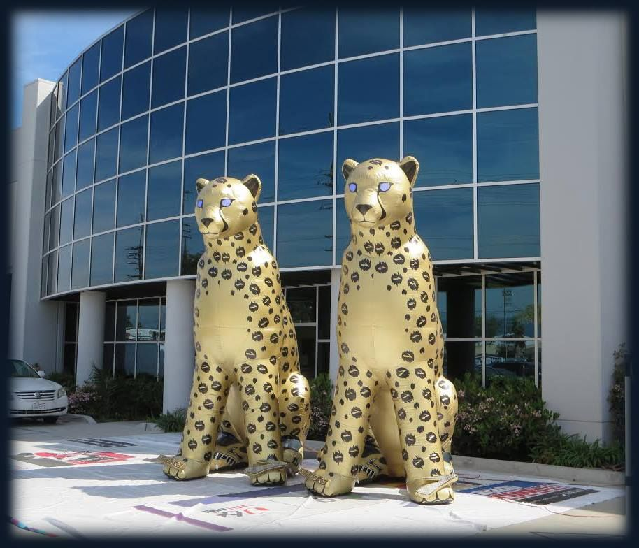 Inflatable Cheetahs.