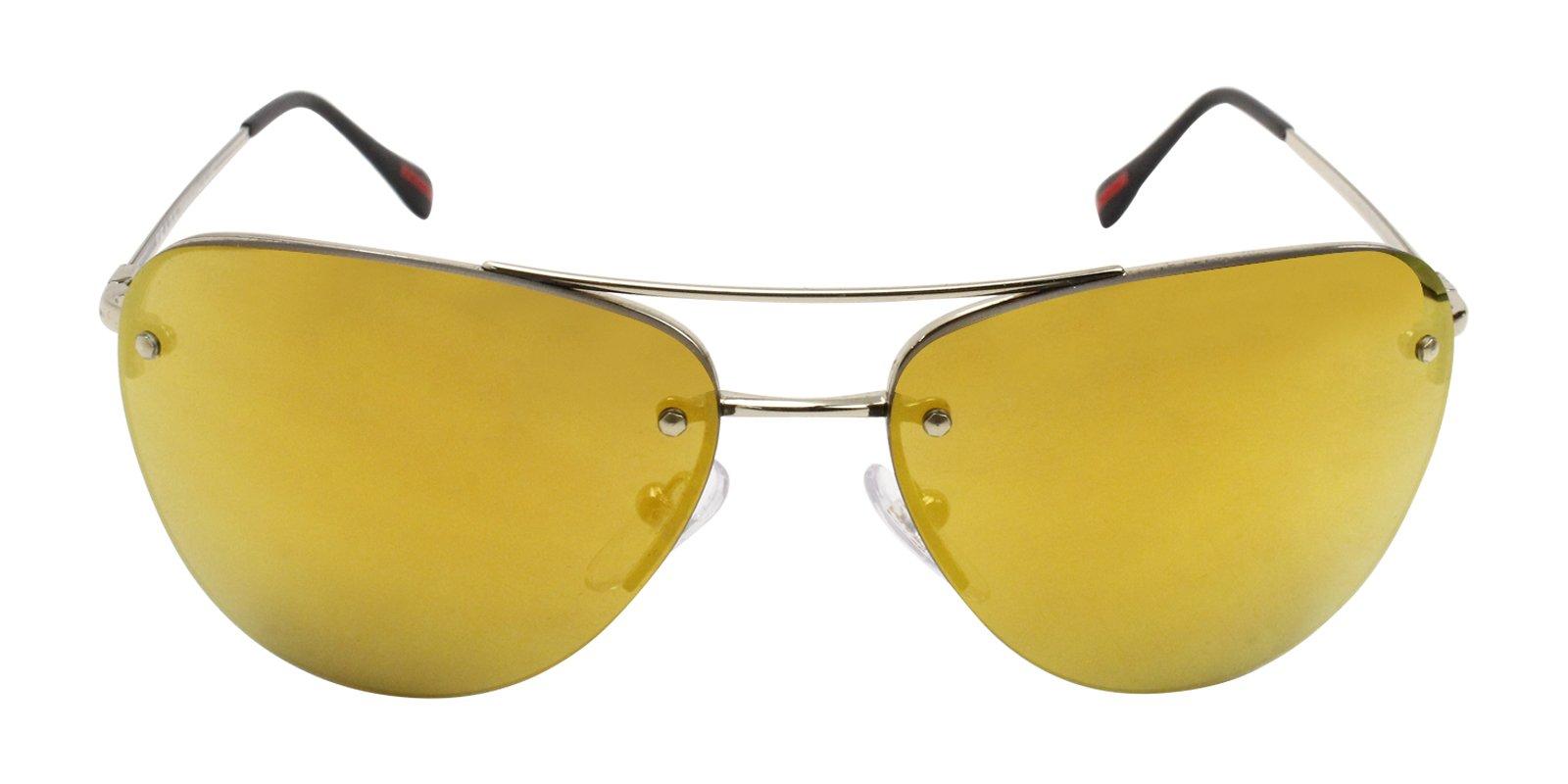 80fae7ffba Prada Sport SPS53R Gold   Gold Lens Mirror Sunglasses Gold Gold