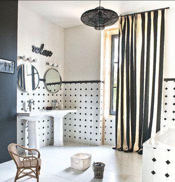 Restauration d'un corps de ferme - contemporary - Bathroom - Other Metro - dizing