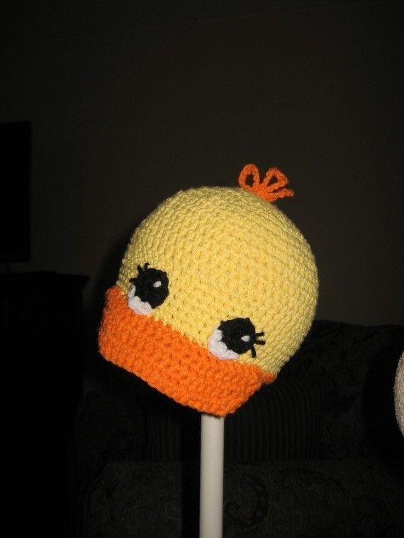 CROCHET PATTERN Duck Cap by speckledfrogcrochet.etsy