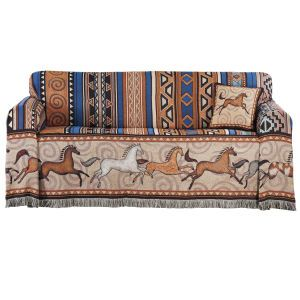 Sundancers Sofa Covers Western Wear Equestrian Inspired Clothing Jewelry Home Decor Gifts Horse Decor Sofa Covers Printed Sofa
