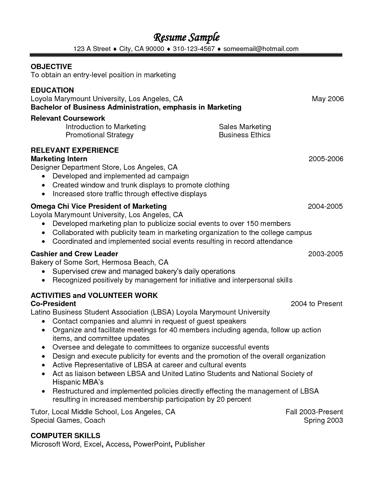 Relevant Coursework In Resume Examplecareer Resume Template Career Resume Template