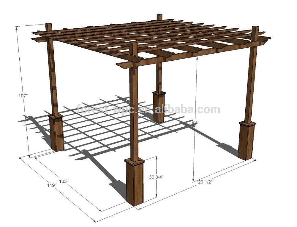 Pergolado de madeira como fazer casa festa paletes - Medidas de pergolas ...