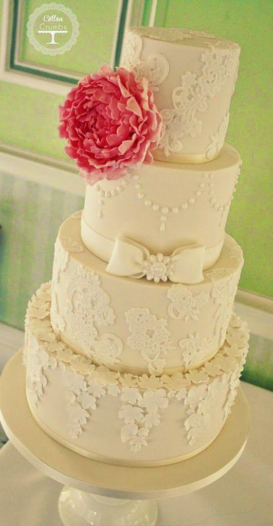 Lace Wedding Cakes | Pinterest | Lace cakes, Wedding cake and Lace ...