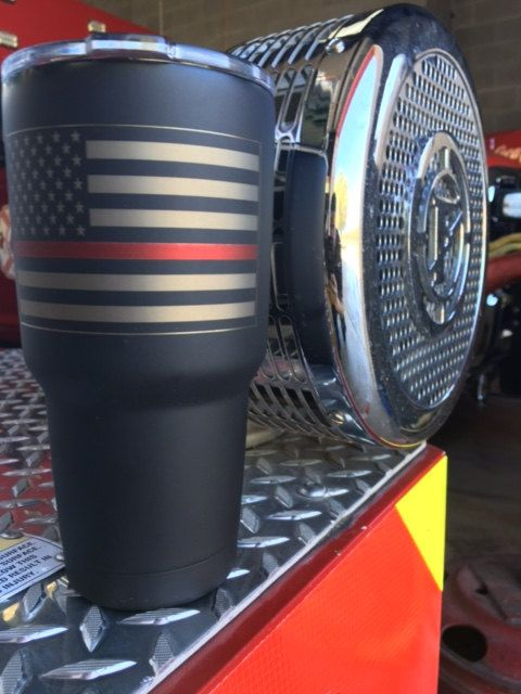 71f7cf9e2fd American Flag Yeti with Thin red line Thin Blue by CavellaDesign ...