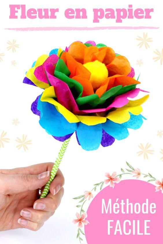 Faire une fleur en papier : méthode facile – Activités enfantines