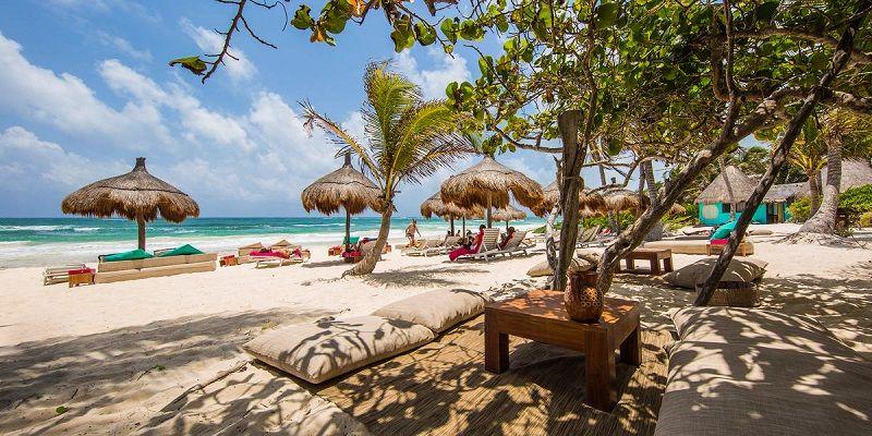 """""""La Zebra"""", uma das praias privativas mais bacanas de Tulum!"""