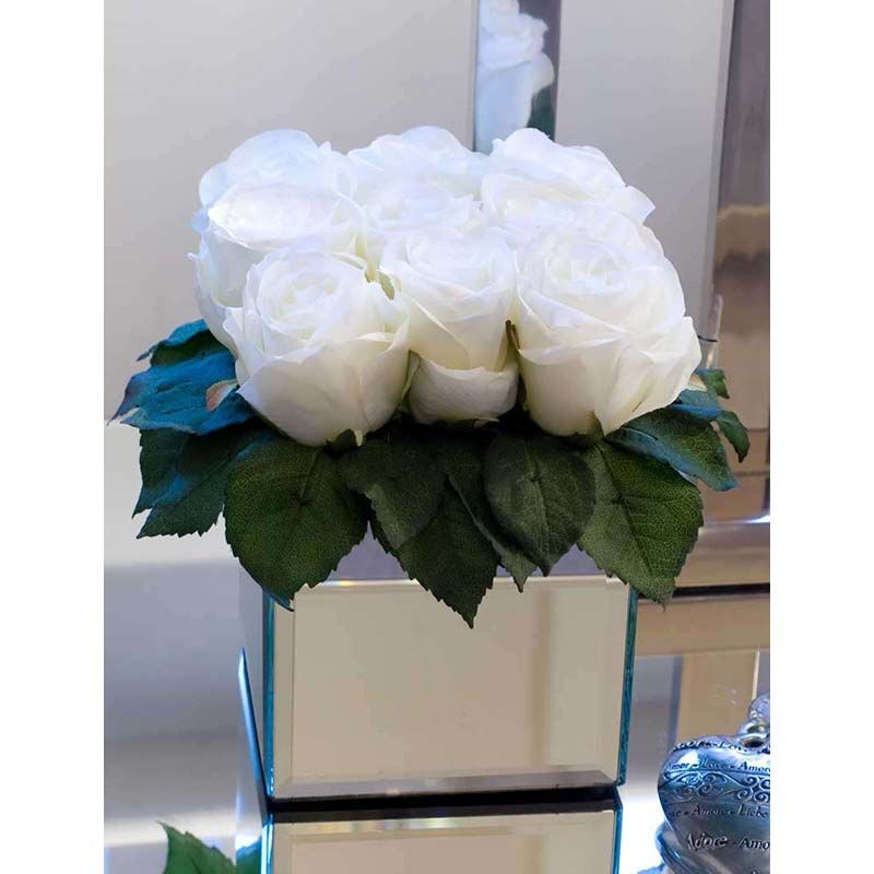 Mirrored Cube Vases Home Flower Arrangements Pinterest Cube