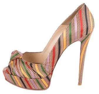 c858e232a42 Christian Louboutin Greissimo Peep-Toe Pumps | Pumps,heels and ...