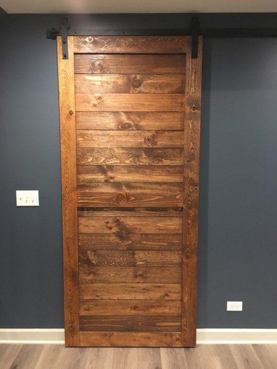 Horizontal Slatted Modern Sliding Door In 2020 Modern Sliding Doors Diy Barn Door Plans Wooden Sliding Doors