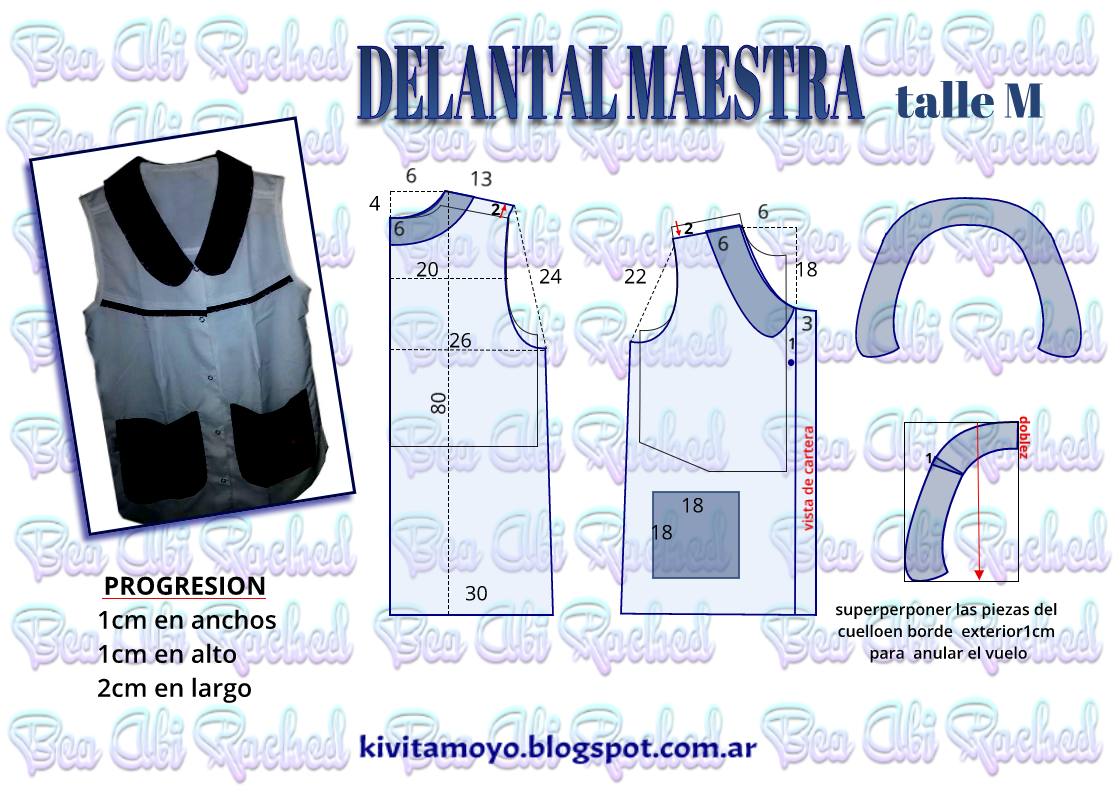 KiVita MoYo : DELANTAL DE MAESTRA talle M | delantales | Pinterest ...