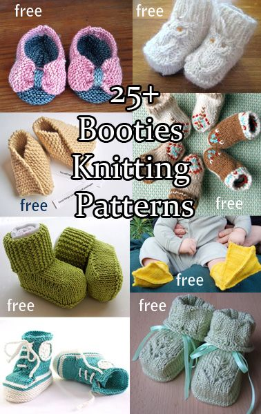 Baby Bootie Knitting Patterns Baby Booties Knitting Patterns And