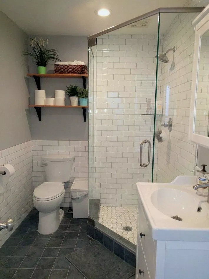 Open Racks Can Work As Both Storage And Screen To Display Your Colorful Towels And Other Bat In 2020 Master Bathroom Renovation Small Master Bathroom Bathrooms Remodel