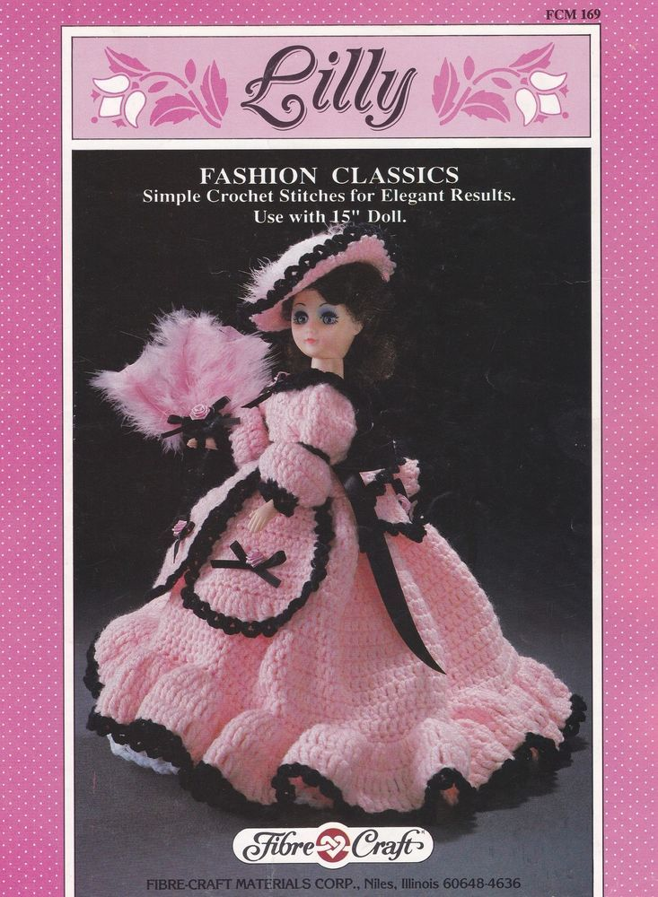 Lilly Fibre Craft Crochet Fashion Classics Doll Clothes Pattern