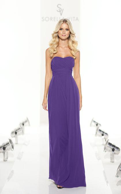Full length majestic purple bridesmaid dress by Sorella Vita. (Style 8129)