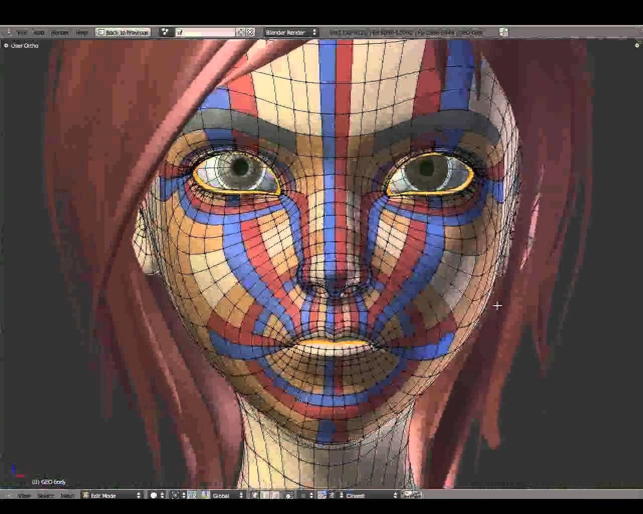 1/7 - Facial Intro Topology - Sintel