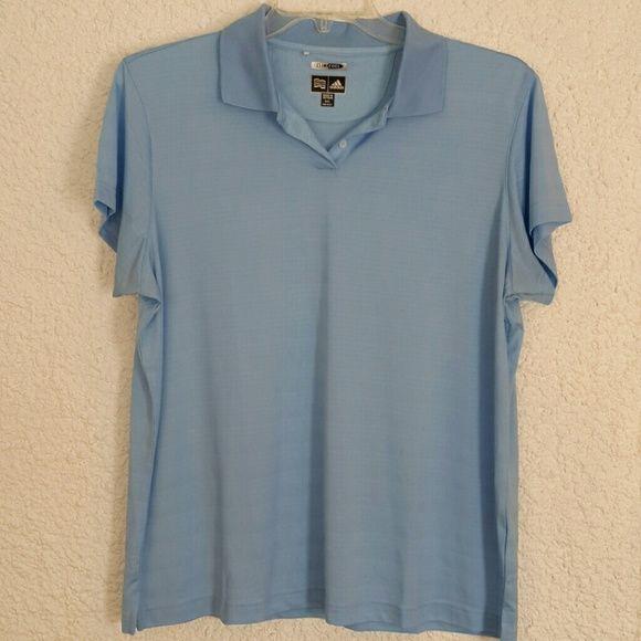 Adidas climacool light blue polo Adidas polo, light blue, no tags but never worn Adidas Tops Tees - Short Sleeve