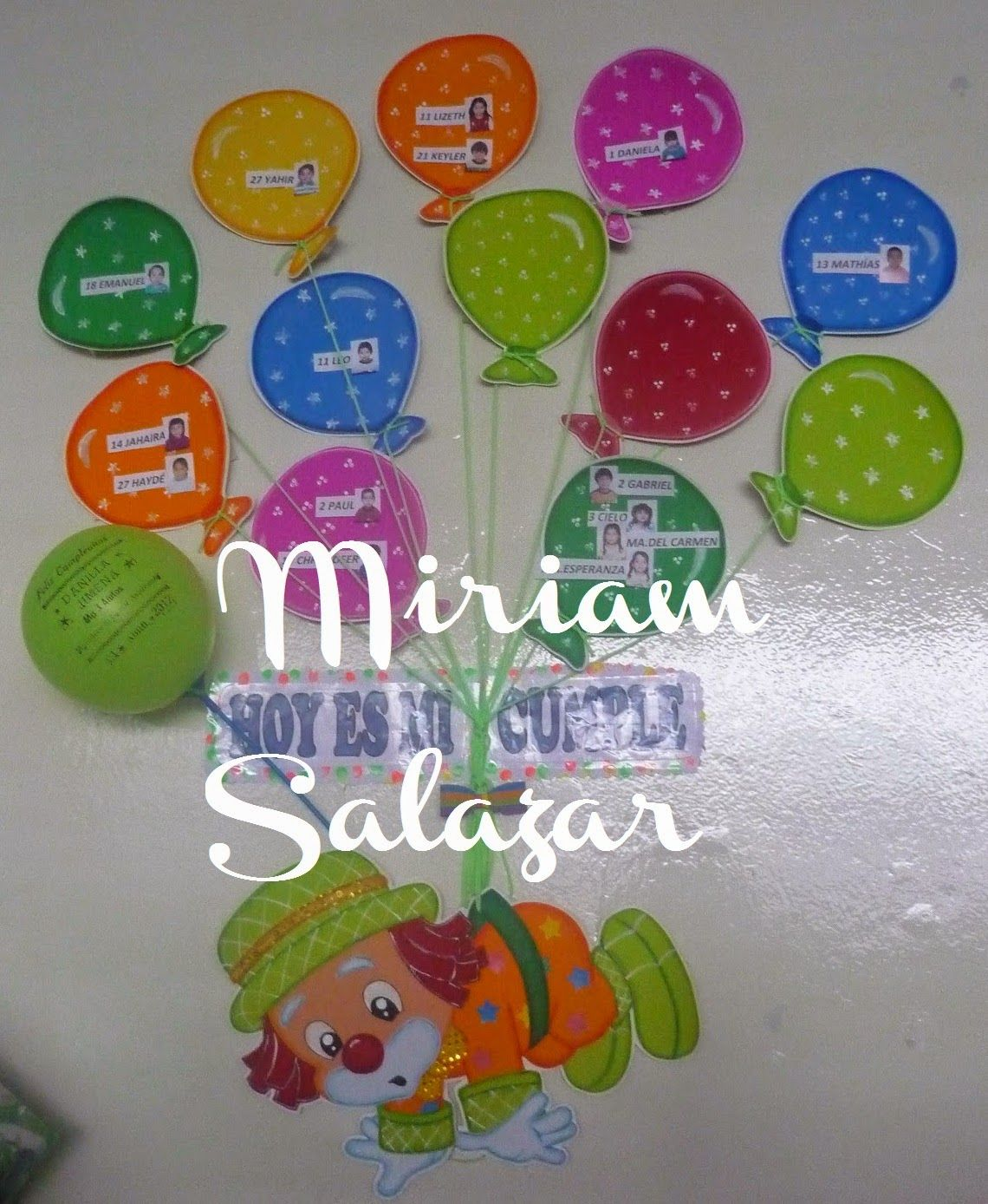 Cartel de cumplea os para preescolar buscar con google for Decoracion jardin infantes