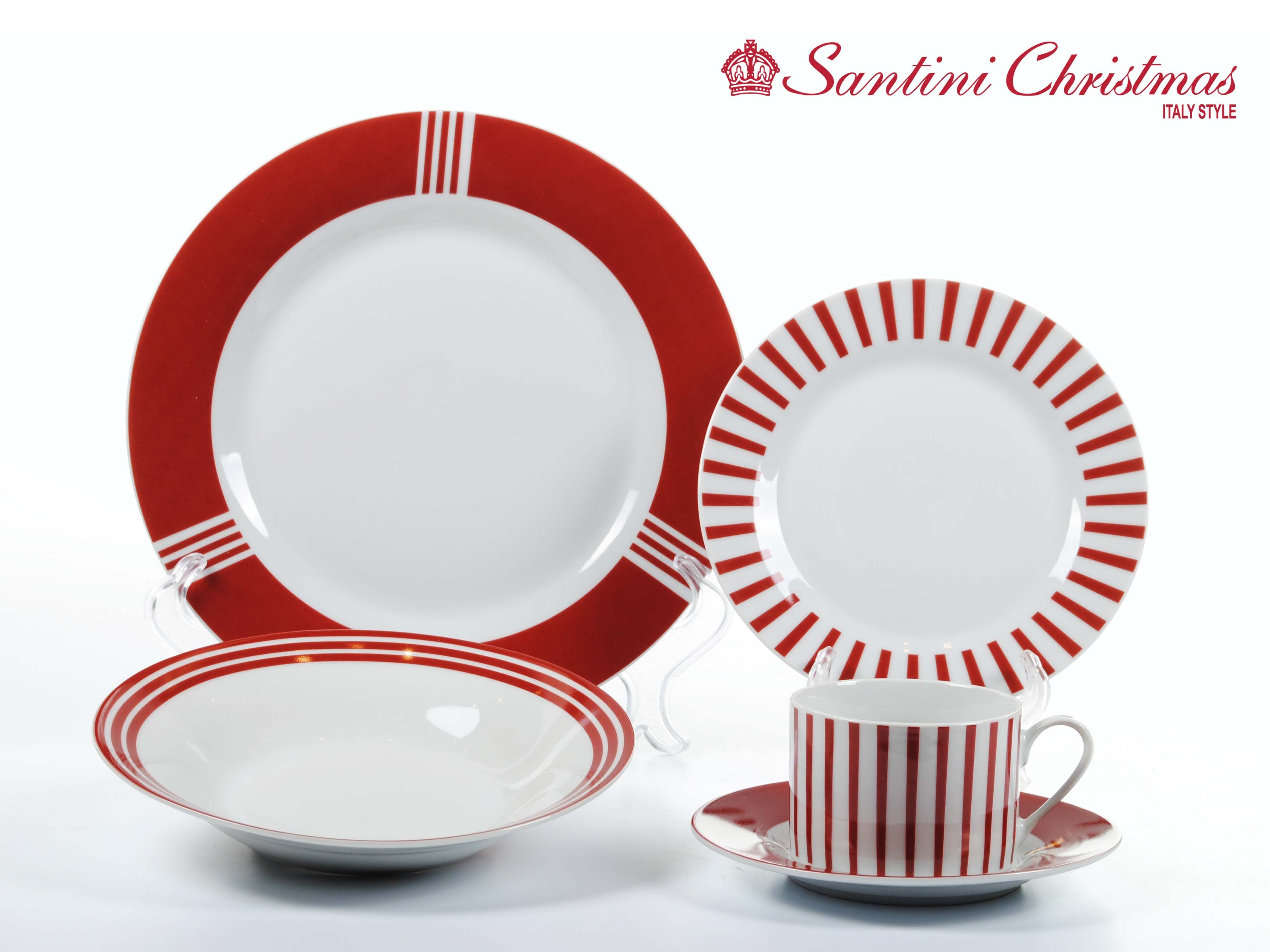 Vajilla navide a candy cane dinnerware set cer mica pintada navidad vajilla de navidad y - Vajillas navidenas ...
