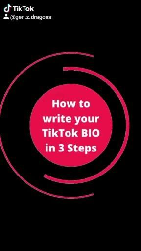How To Write Your Tiktok Bio In 3 Steps Video Algorithm Writing Bio