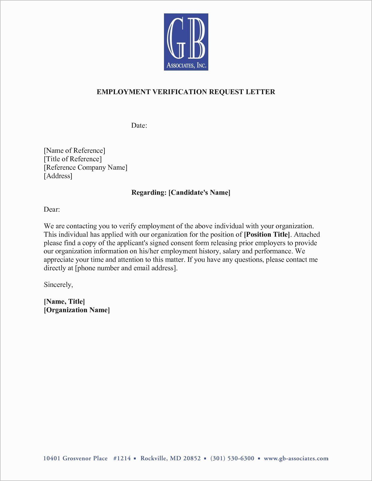 24 Employment Verification Letter Template Microsoft in