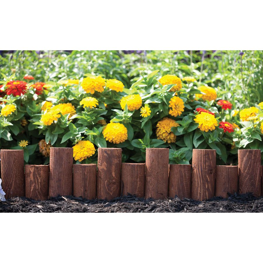 Shop Greenes Cedar Stain 8.98 Landscape Edging Section at
