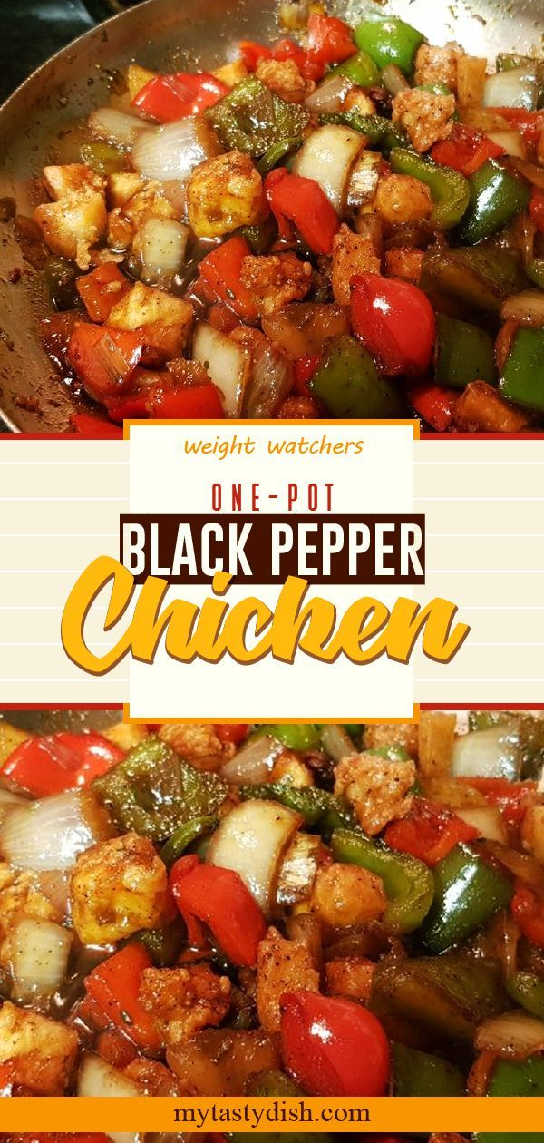 One-Pot Black Pepper Chicken come with 4 weight watchers freestyle smart points