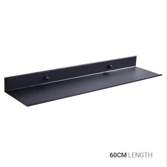 Photo of Space Black Aluminium Bathroom Shelf Shower Storage Rack Modern Kitchen Shelf Black Bathroom Accessories Available In 4 Sizes