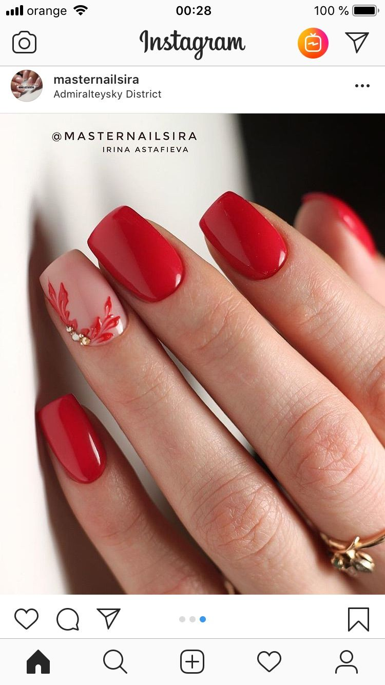 Lindo In 2020 Swag Nails Red Gel Nails Manicure