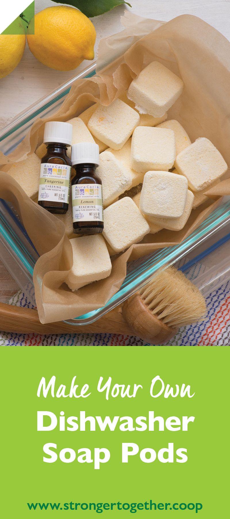 Make Your Own Dishwasher Soap Pods Dishwasher soap, Diy