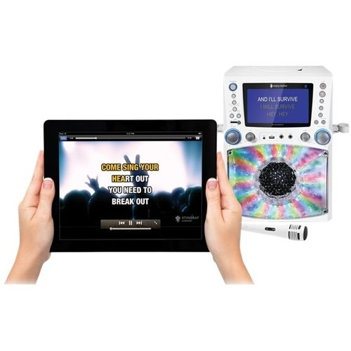 Singing Machine - CD+G Bluetooth Karaoke System - White #karaokesystem