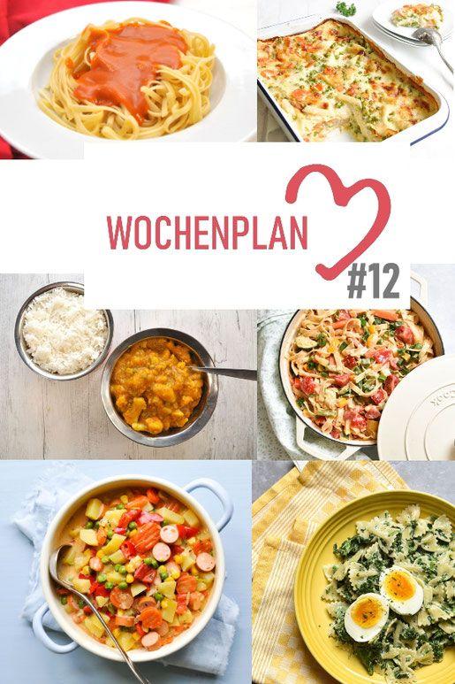 Wochenplan 12 Abwechslungsreiche Rezeptideen Fur Eine Woche Vegetarisch Kochen Rezepte Gunstige Gerichte