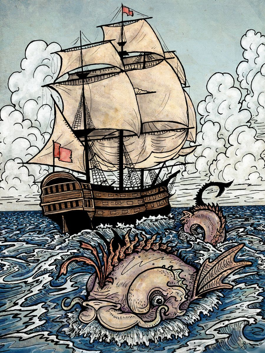 The Sea Serpent by ~SackofWetRabbits on deviantART