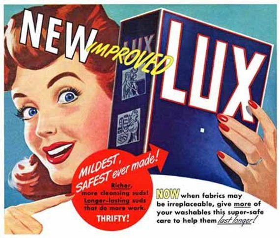 reproduction. Wall art poster poster Lux for Washing : Vintage Advertising