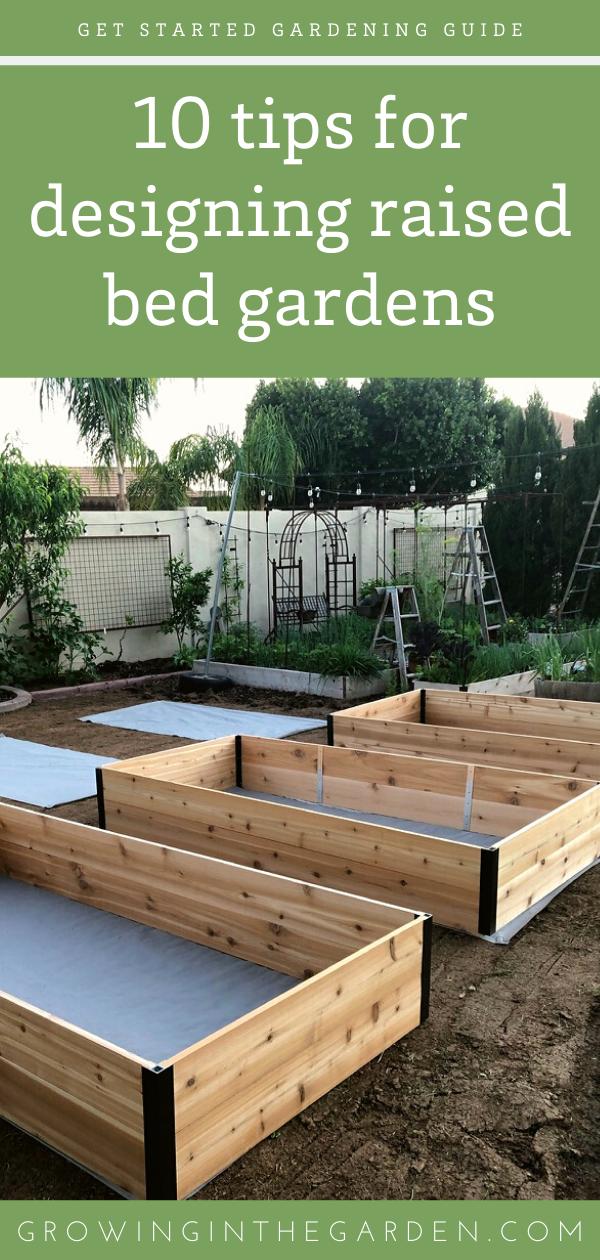 Raised Bed Garden Design Tips Raised Bed Garden Design Vegetable Garden Raised Beds Outdoor Herb Garden