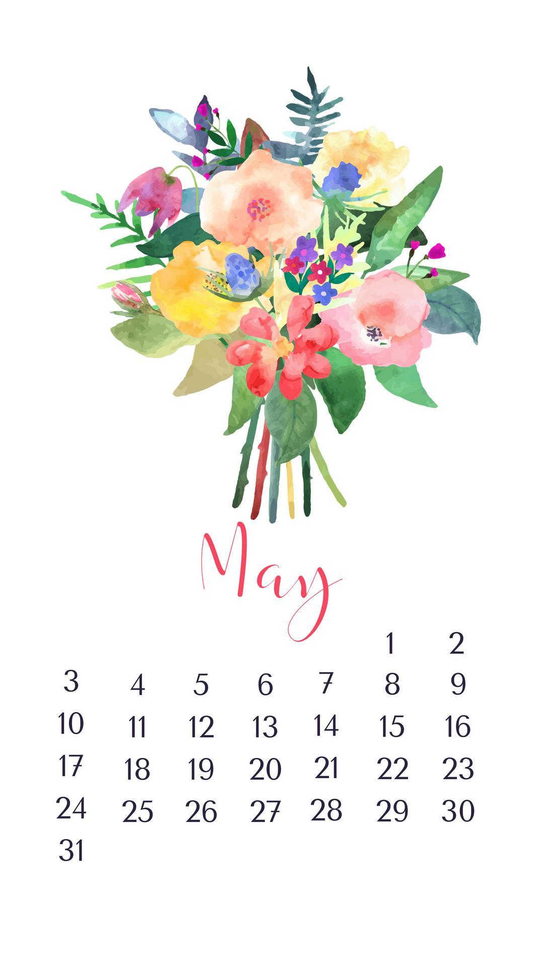 iPhone May 2020 Calendar Wallpaper - Free 2020 Printable Calendar| Blank Templates| 2020 Holidays