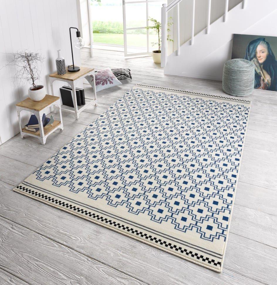 Zala Living Design Teppich Capri Ornamente Blau | Wohnzimmer Teppich Blau | Wohnzimmer  Teppich Modern