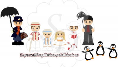Mary Poppins svg file