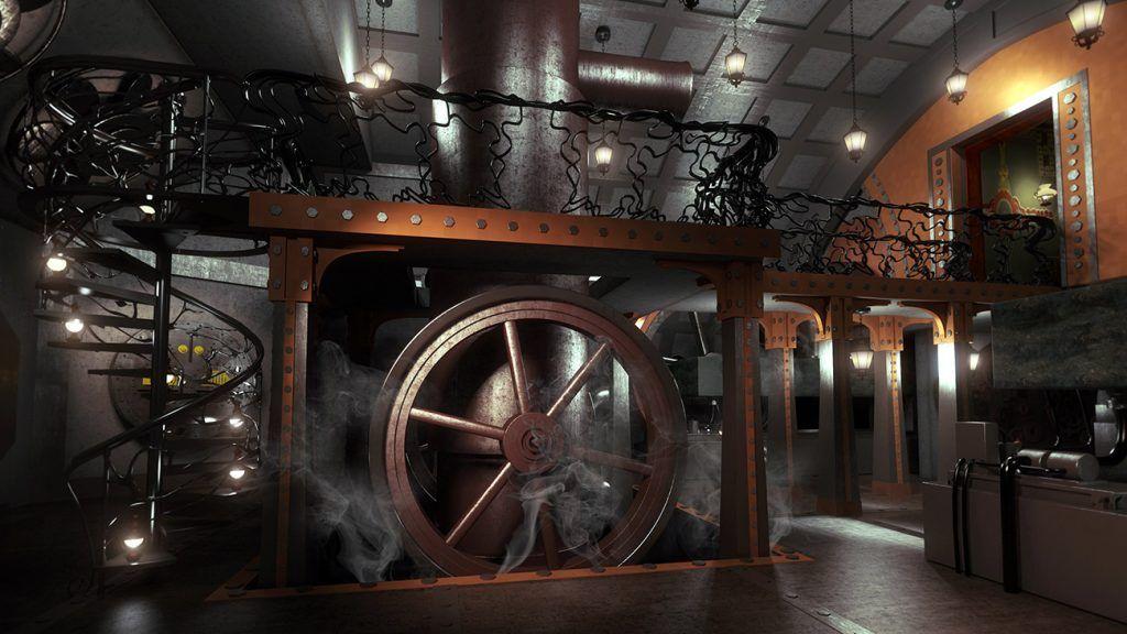 Interior: 03 In 1300 Steampunk Interior Design 2: Steampunk Interior Design