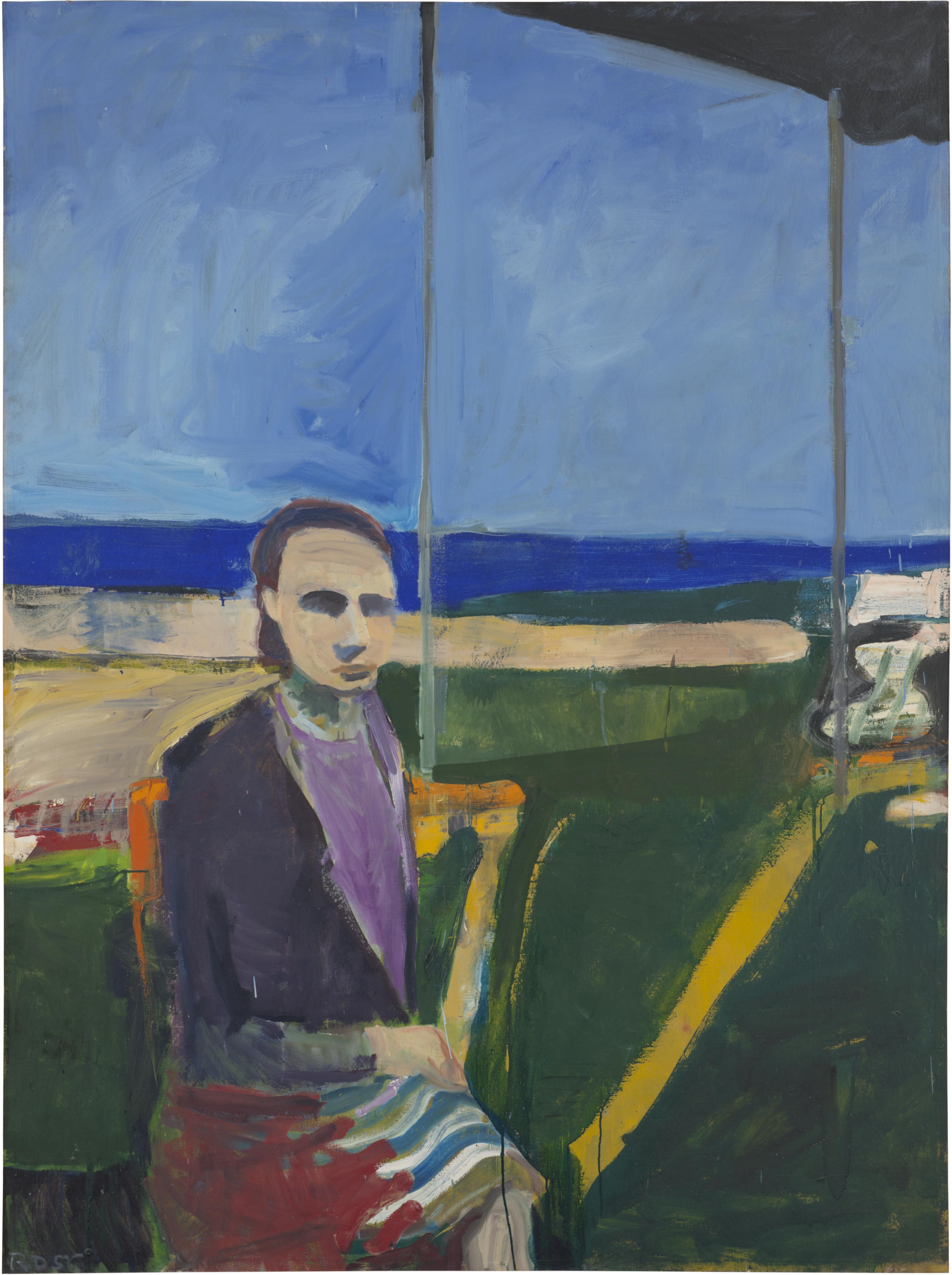 Woman by the Ocean – Painting – classifications – Richard Diebenkorn Foundation