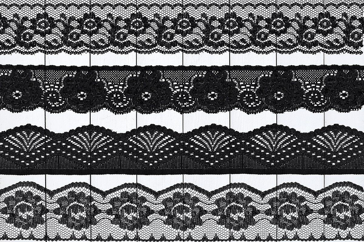 Black Floral Lace Borders Lace Border Floral Lace Black Floral
