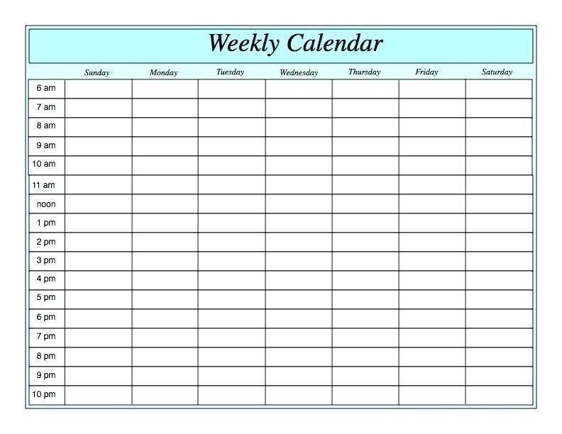 Free Printable Weekly Calendar Template Microsoft Word Weekly Calendar Printable Free Printable Weekly Calendar Weekly Calendar Planner